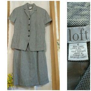 Ann Taylor Loft Skirt and jacket suit - Sz 6